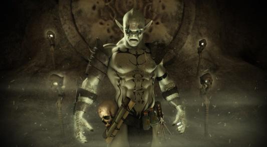 Orc warlock character